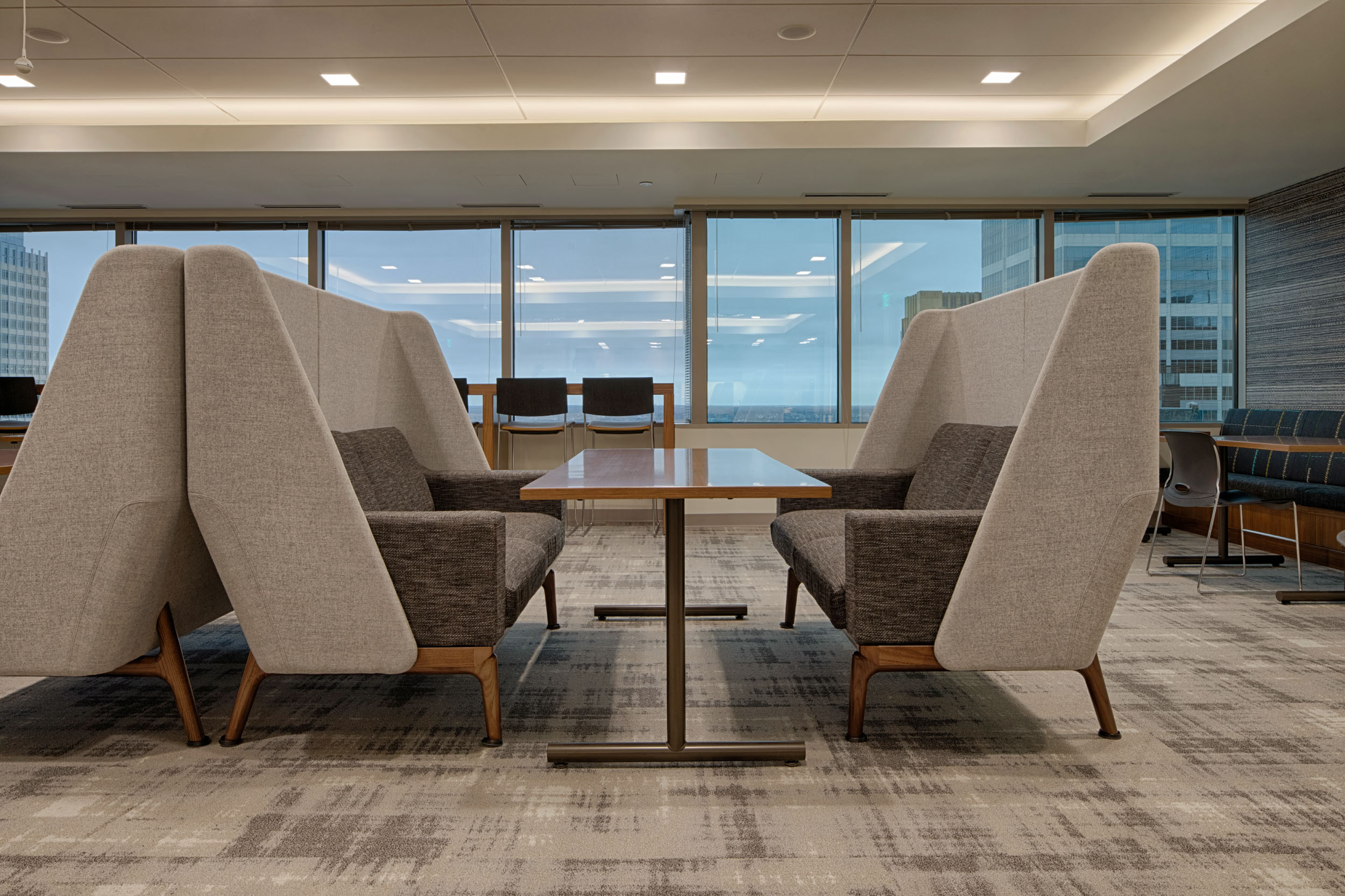 Office furniture for a law firm part of a Minneapolis architecture photo shoot