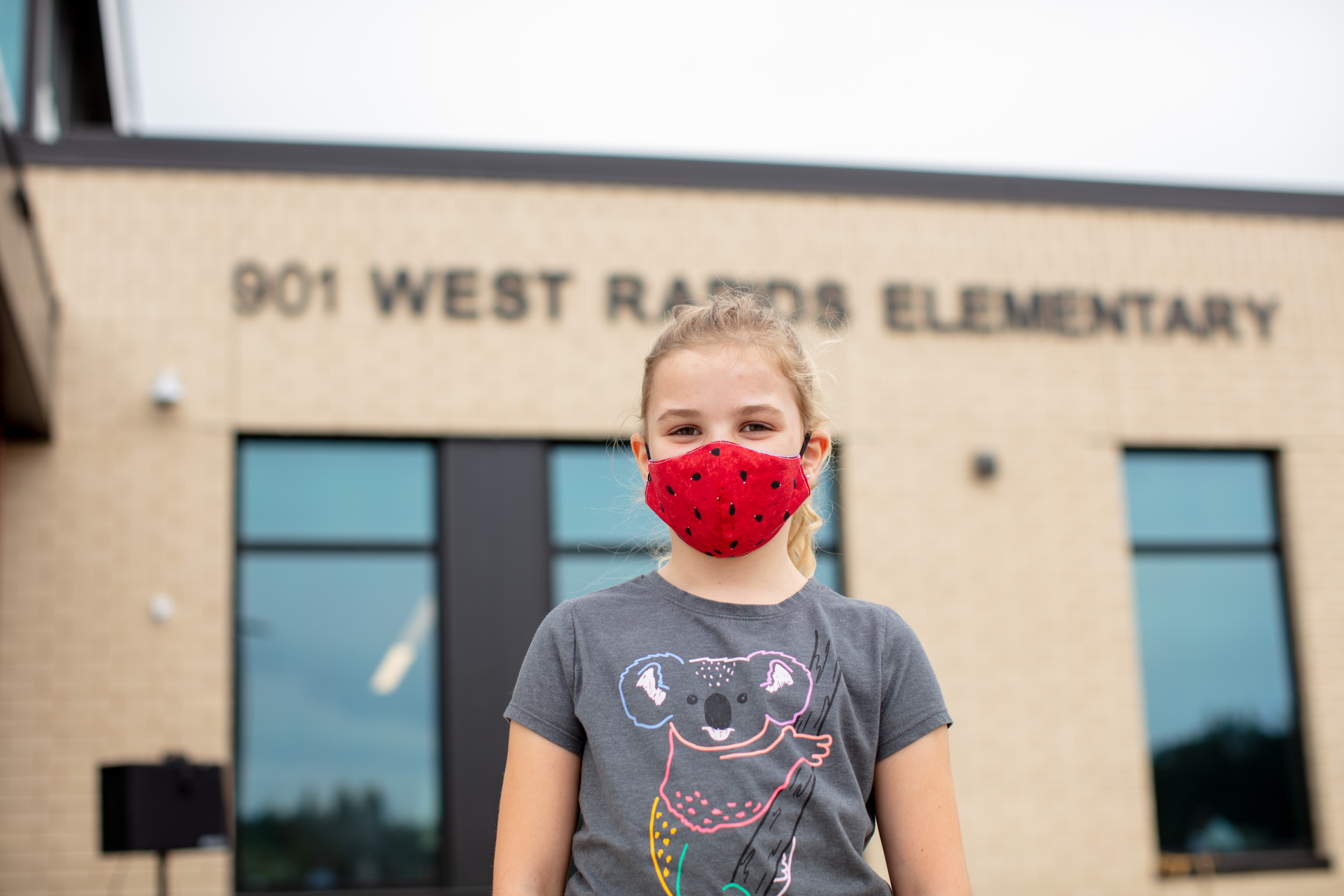 West Rapids Elementary School Ribbon Cutting.  Grand Rapids, Minnesota.